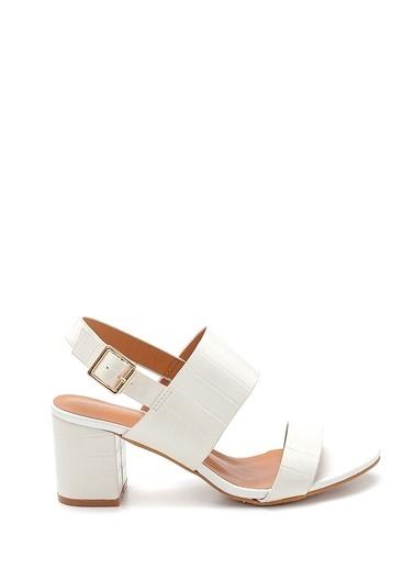 Derimod Kadın Sandalet (Zs3047-Y81) Casual Beyaz